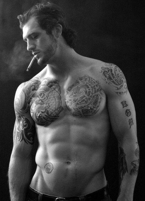 man in tattoo by Semenovir