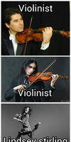 theres violinist and then theres lindsey