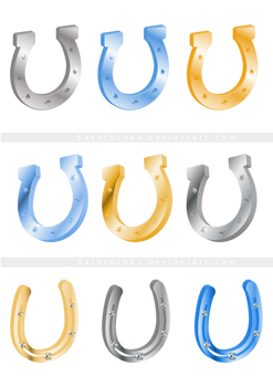 Horseshoes Isolated (Cut Out), Clipart