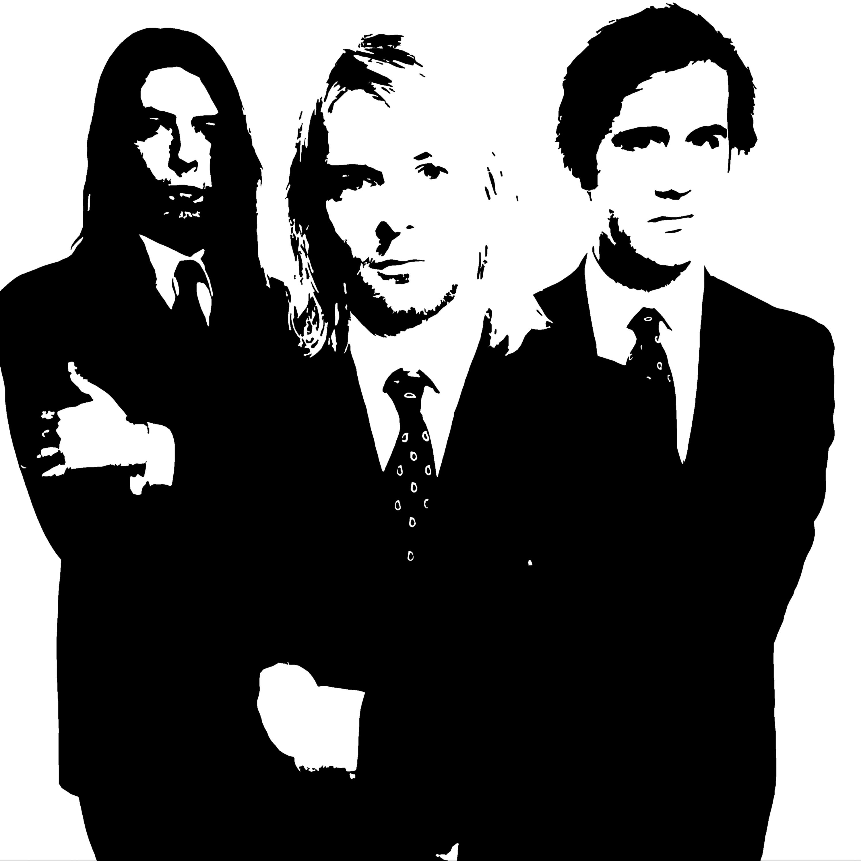 Image result for Nirvana Black and White