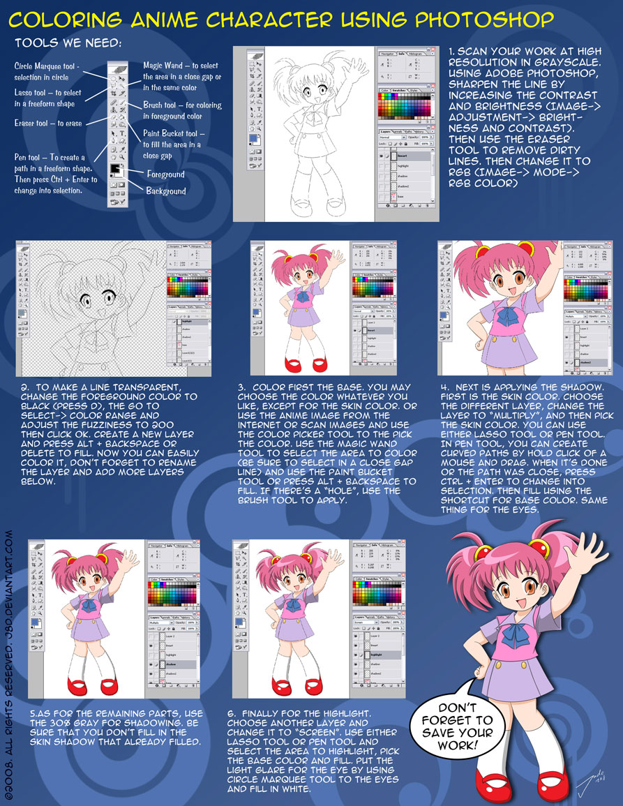 Photoshop Coloring tutorial by J8d