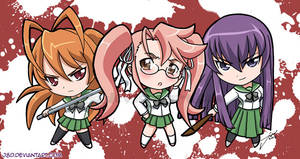 Chibi HS Girls of the Dead
