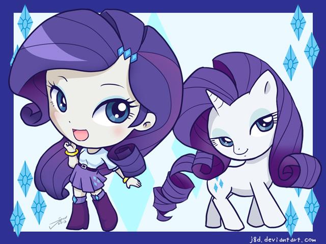Equestria Chibi Girls: Rarity by J8d on DeviantArt
