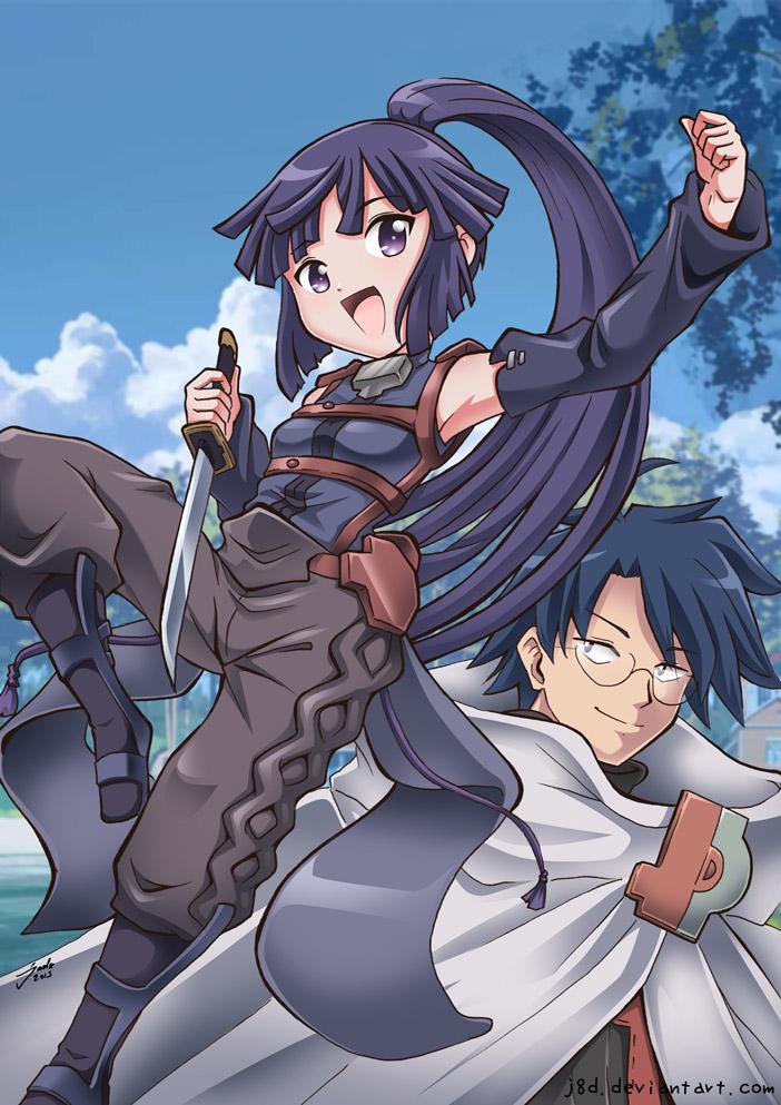 Akatsuki and Shiroe by J8d