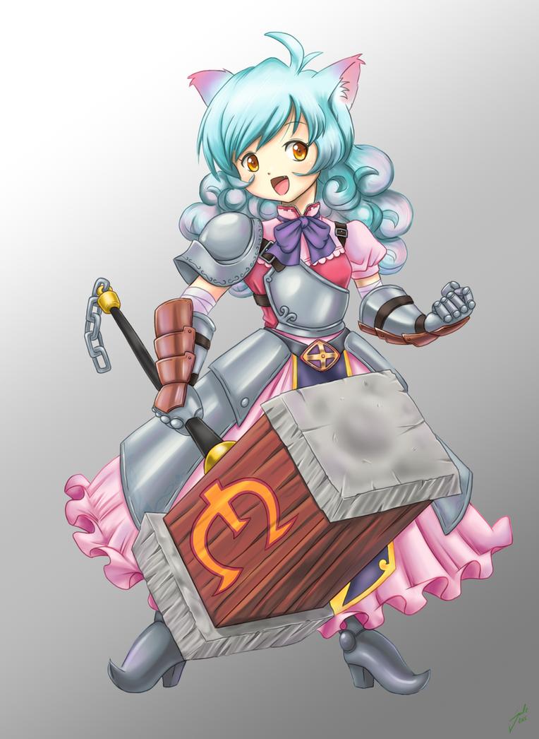 Chia, the Blacksmith Knight by J8d
