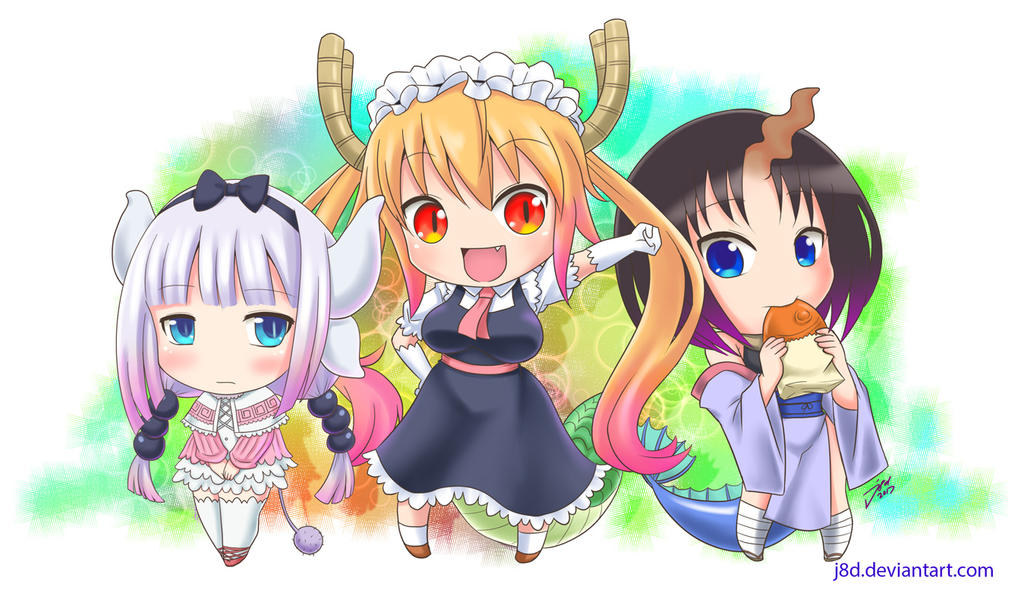 chibi dragon girls by j8d on deviantart