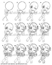 How I draw chibi girl XD