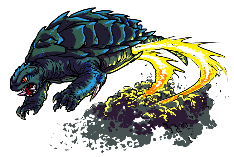 Gamera Flying flying Gamera by moonc...
