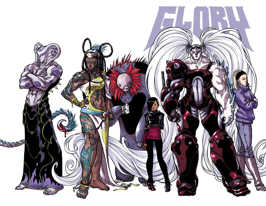 Glory and the gang by mooncalfe