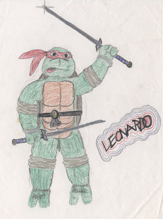 embarrassing childhood Leonardo 1990 by mooncalfe
