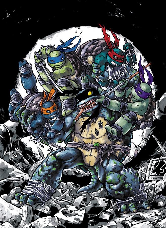 Turtles vs. Slash by mooncalfe