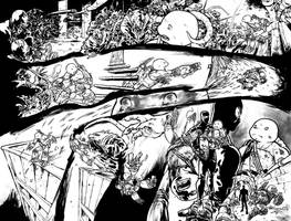 TMNT #23 double-pager by mooncalfe