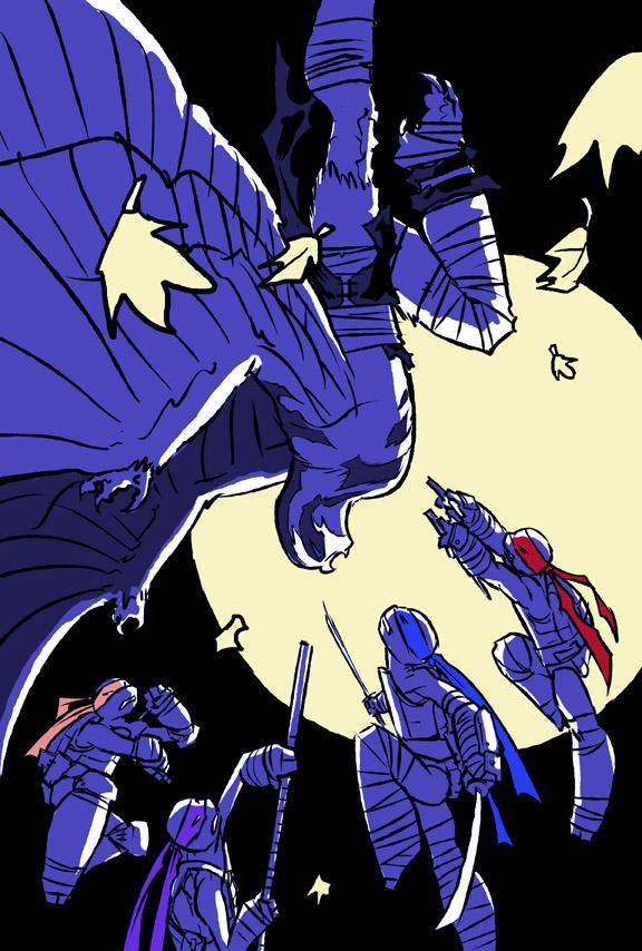 Turtles vs. Koya by mooncalfe