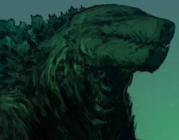 Godzilla by mooncalfe