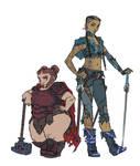 DnD: Veysha and Rova