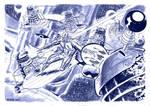Silver Surfer vs the Daleks