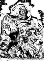 Three Against Doom by danmcdaid