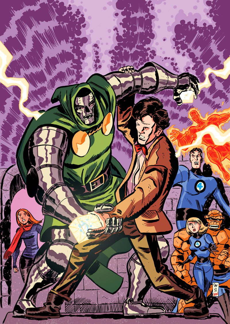 Marvelous cloberrin' day : campagne heroclix. Doctor_who_vs_doctor_doom_by_danmcdaid-d4cevzp