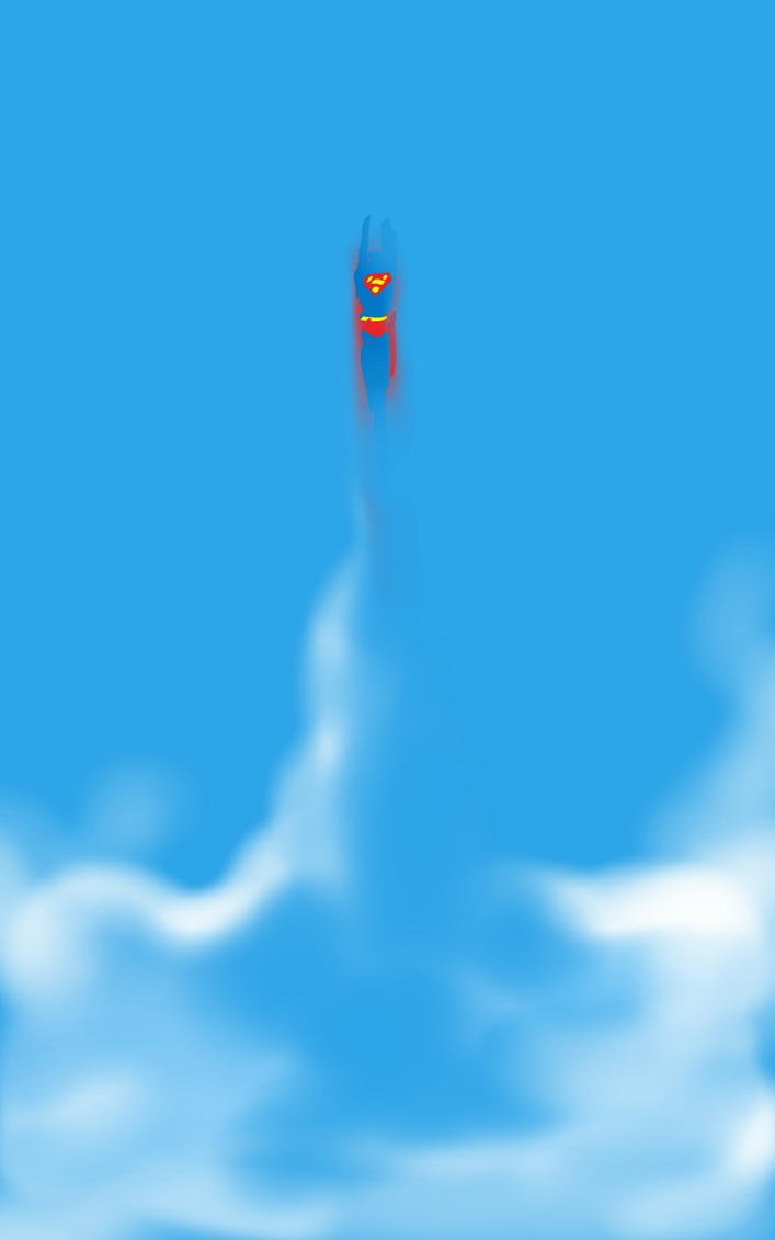 Superman Sky by danmcdaid