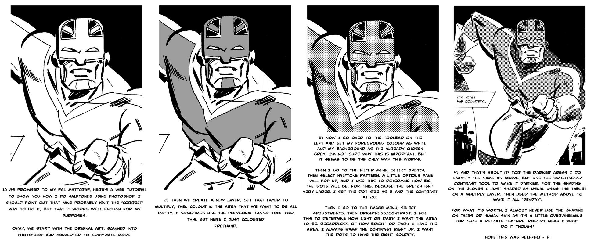 Line Art Vs Halftone : Halftone tutorial by danmcdaid on deviantart