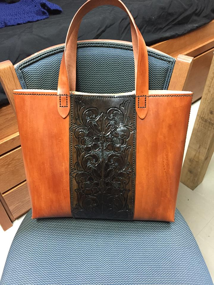 Leather hand bag by Lost-Ragnarok