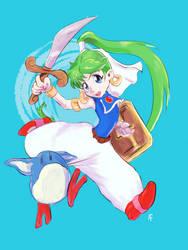 Asha- Monster World 4- Sega Genesis