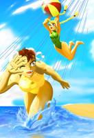 Beach fun by yakumoSoul