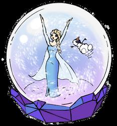 Elsa snowglobe by yakumoSoul