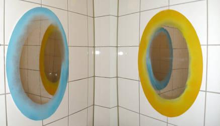 Portals in my bathroom by yakumoSoul
