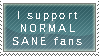 Normal sane fan by DarkAngelsWork