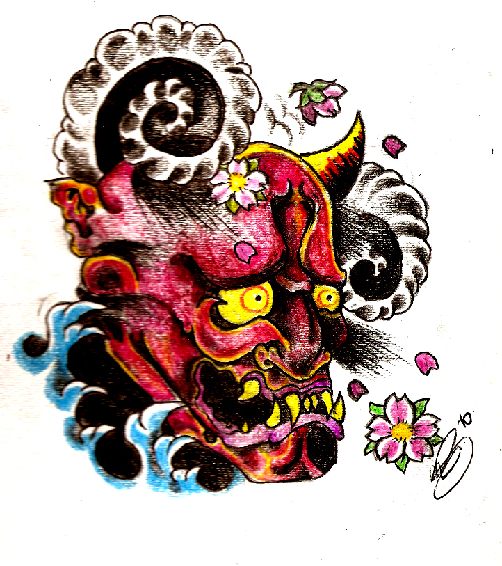 oni demon tattoo design by funeralofhearts0 on deviantart. Black Bedroom Furniture Sets. Home Design Ideas