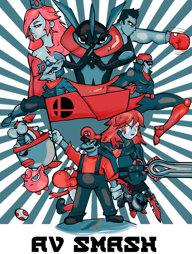 Smash bros shirt design by FuneraLOfHeartS0