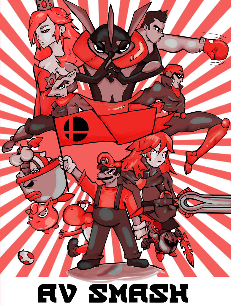 Smash bros shirt design 2 by FuneraLOfHeartS0
