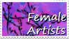 Female-Artist stamp 1 by ChaoticxBarbie