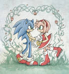 Sonic with some Roses