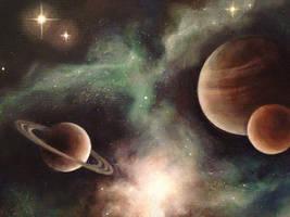 Mars, Jupiter, Saturn