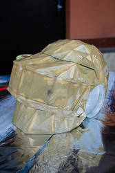 Thomas Bangalter helmet coated with resin