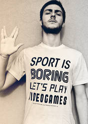 Sport is boring, let's play videogames.