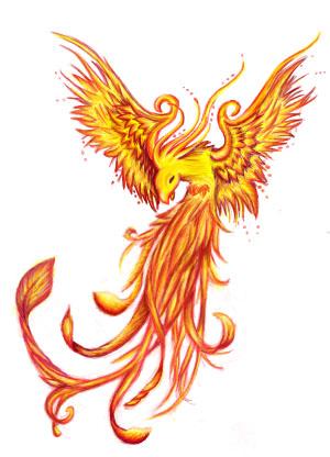 Feniks tattoo design