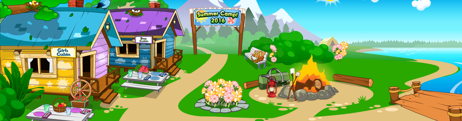 (F2U) Fantage Summer Camp 2016 Background by Fario-P