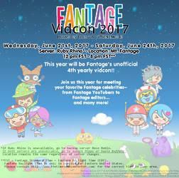 Fantage Vidcon 2017 info by Fario-P