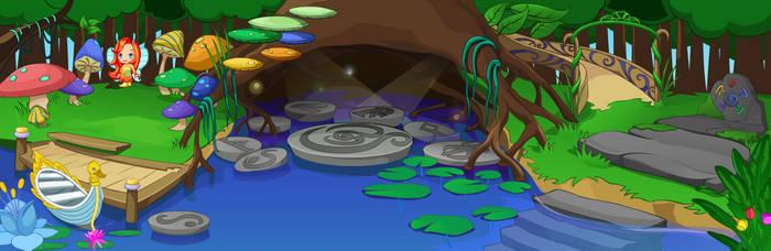 (F2U) Fantage Secret Fairyland 1F Background by Fario-P