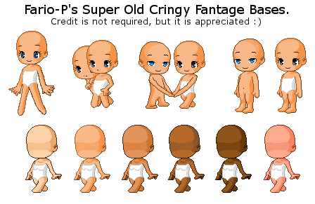 (F2U) My Super Old Cringy Fantage Bases by Fario-P
