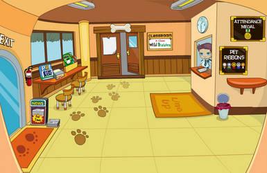 (F2U) Fantage Pet Academy Lobby Background by Fario-P