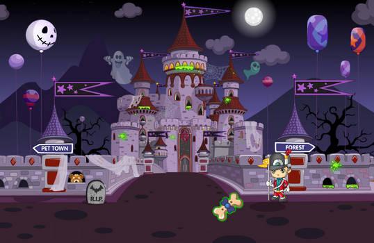 (F2U) Fantage Halloween 2017 Castle Background 1
