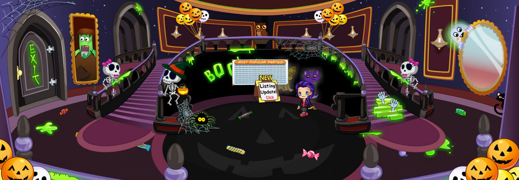 (F2U) Fantage Halloween 2017 Castle Background 2