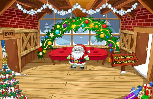 (F2U) Fantage Santa's Cabin Background