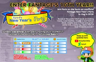 Fario's 2018 New Year's Party Invitation