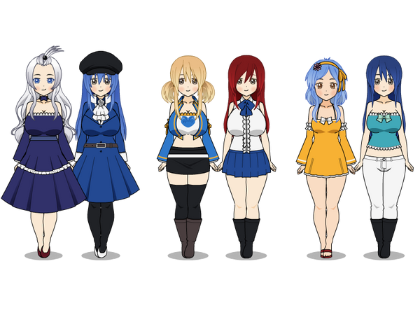 [Kisekae/Anime] Fairy Tail Girls