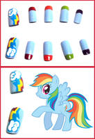 Rainbow Dash Nails by OMG-itz-J3551K4